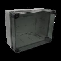 Gabinete de conexión cubierta transparente
