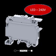 Clema Portafusible con LED