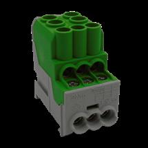 Bloque distribución,100A,verde