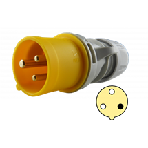 Clavija 16A, 2P+T, 4h, 100-130V