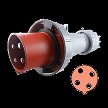 Clavija 63A, 3P+T, 11h, 440-460V