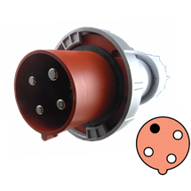 Clavija 125A, 3P+T, 11h, 440-460V