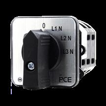 Conmutador de voltímetro 3 voltaje fase neutro / off