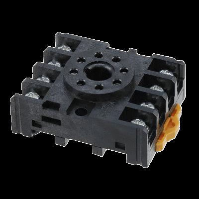 Socket de relevador / temporizador para riel Din